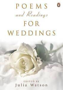 Poems-and-Readings-for-Weddings-Julia-Watson-Paperback-Book-Good-97801410