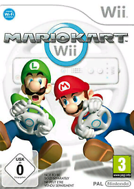 Mariokart Wii with 2 game cds