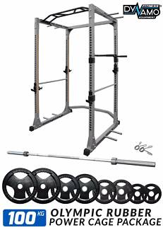 Power Cage Olympic Barbell 100kg Package for Gym & Fitness NEW