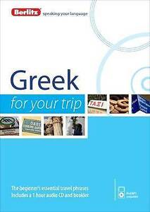 Berlitz Language: Greek For Your Trip (Berlitz For Your Trip), Berlitz, New Book