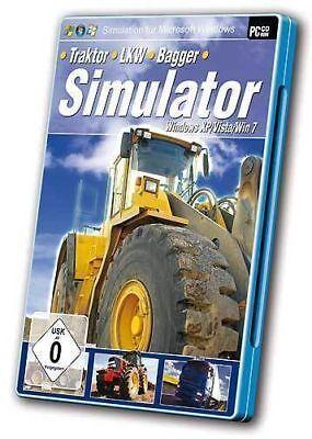 Pc Computer Spiel Bagger - Lkw - Traktor - Simulator Neunew