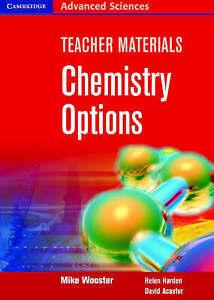 Chemistry Options Teacher Materials CD-ROM (Cambridge Advanced Sciences), Wooste