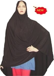 New-Long-Womens-Hijab-Namaz-Scarf-Head-Scarf-Black-Islamic-Hejab-Abaya