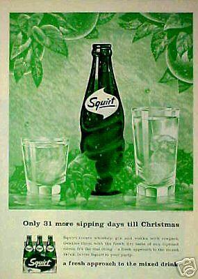 Vintage soda pop bottle LOW CALORIE SQUIRT Sherman Oaks Calif 1965 unused n-mint