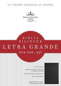 USED-LN-RVR-1960-KJV-Biblia-BilingA-e-Letra-Grande-negro-tapa-dura-Spanish-E