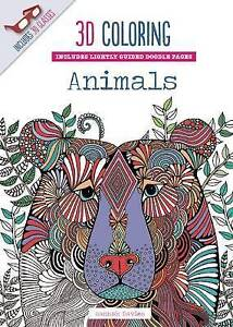3D Coloring Animals by Davies, Hannah -Paperback