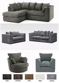 Sofa Settee Set 3 + 2 Foot Stool Included