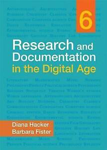 NEW Research and Documentation in the Digital Age by Diana Hacker