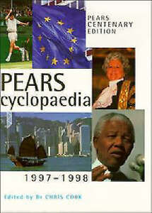 Pears Cyclopaedia 1997-98, Cook, Christopher (Editor)., Very Good Book
