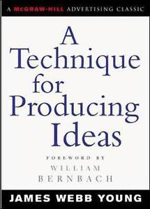 A Technique for Producing Ideas, Young, James
