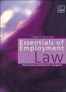 Essentials of Employment Law, Sargeant, Malcolm, Lewis, David | Paperback Book |