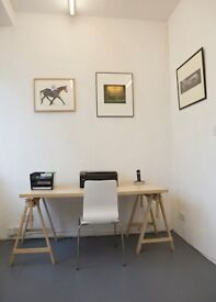 Low cost desk space offered in bright office near to Clapham Junction SW11