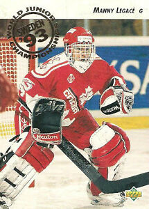 MANNY LEGACE .... ONLY ROOKIE CARD ... 1992-93 Upper Deck hockey