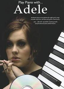 Play Piano With ... Adele 8 Great Songs Book & CD S116 B29