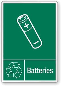 Battery recycling  any Large quantity of batteries
