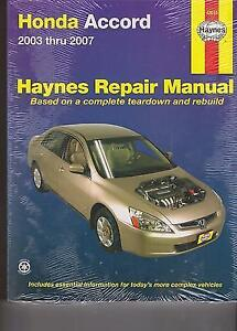 Honda Accord 2003-2007 (Haynes Repair Manual) 1st Edition
