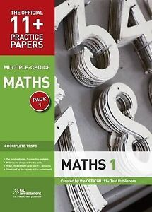 -11+ Practice Papers, Maths Pack 1, Multiple Choice  AC NEW