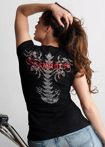Easyriders Ladies Wicked Spine T-Shirt, Size Medium and XL