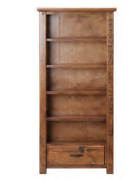 Ex Display Rustic Charm timber bookcase 1950x900 Calamvale Brisbane South West Preview