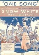 Snow White Sheet Music