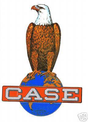 "CASE EAGLE TRACTOR VINYL STICKER 9"""