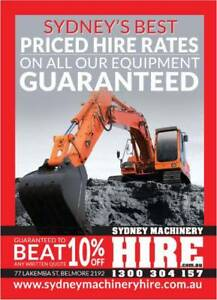 DRY HIRE 1.7 TONNE MINI ZERO SWING EXCAVATOR + BUCKETS & TRAILER