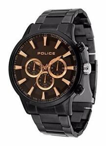 Police Men Watch MOMENTUM PL.15000JSB/02M Black Case and Bracele