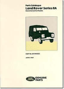 Land Rover Series 2A Bonneted Control Parts Catalog (Official Parts