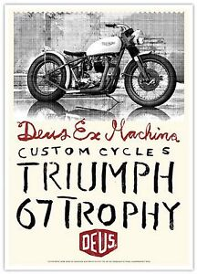 Original Deus Ex Machina poster artwork: - Triumph 67 trophy
