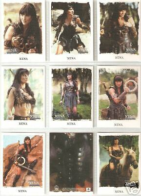 Xena Art & Images complete 63-card base set