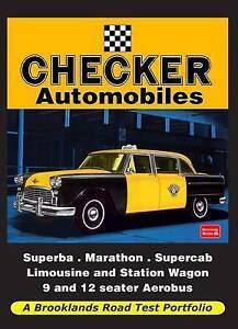 Checker Automobiles Road Test Portfolio by Brooklands Books Ltd (Paperback,...