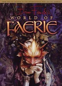 ספר ציורי פיות World of Faerie עם כריכה קשה של בריאן פראוד 99.68 ש