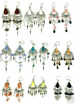 PERU JEWELRY 20 EARRINGS NATURAL STONE ARTISAN MADE