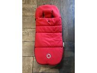 Genuine Bugaboo Footmuff in Red.