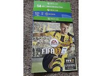 Fifa 17 Xbox one digital code with one Month Ea access and three loan legends.