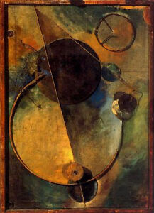 Kurt Schwitters Revolving Collage Print on Canvas $399 Value