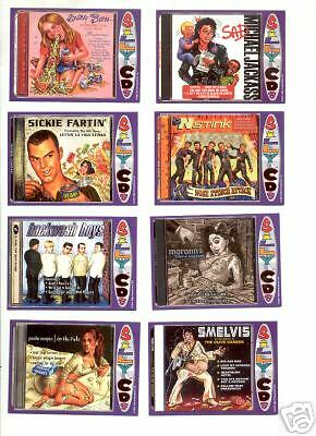 SILLY CDs SERIES 1 CARD SET (WACKY PACKAGES - 33 CARDS) NEW - FREE SHIP!