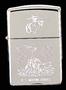 U.S. MARINE CORPS ZIPPO LIGHTER - LIFETIME GUARANTEE - MADE IN THE USA - MARINES