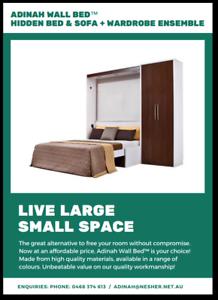 Hidden Wall Bed Ensemble + Sofa + Wardrobe Bondi Junction Eastern Suburbs Preview