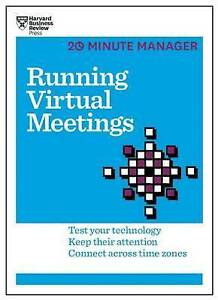 Running Virtual Meetings by Harvard Business Review Press -Paperback
