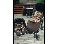 Mamas and papas pliko switch pushchair in Linear