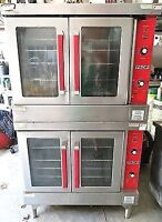 Double stack Vulcan gas convection oven