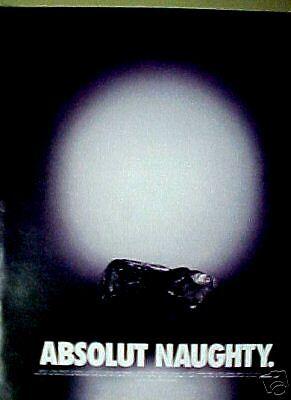 Absolut Naughty Vodka Distillery Rock Art Paper 2002 Ad segunda mano  Embacar hacia Argentina