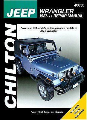 Chilton Repair Manual Jeep Wrangler & YJ, 1987-2011  #40650