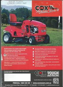 Cox Stockman Series 3 Ride on Mower Heatley Townsville City Preview