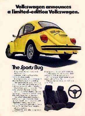 1973 volkswagen super beetle sports bug edition used. Black Bedroom Furniture Sets. Home Design Ideas