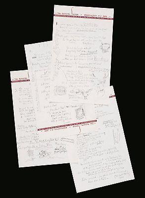 Der handgeschriebene Songtext zu Like a Rolling Stone von Bob Dylan