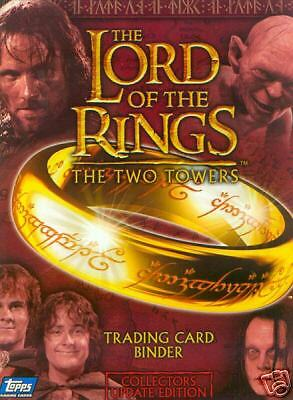 LORD OF THE RINGS THE TWO TOWERS UPDATE 2003 TOPPS UK TRADING CARD ALBUM BINDER