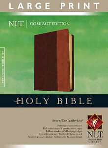 Large Print Compact Bible-NLT by Tyndale...