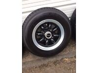 Minilight alloy wheels 10inch with TOYO tyres on,very good condition,hardly use ...